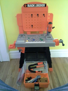 Black and Decker Toy Tool Set w) Toolbox Full of Tools (SPCA)