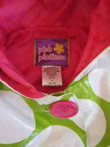 Girls Polka Dot Raincoat - size 4 Kitchener / Waterloo Kitchener Area image 2