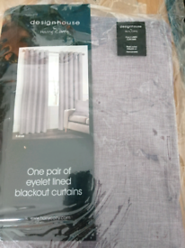 Blackout lined curtains
