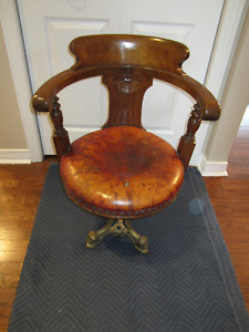 3 VICTORIAN SHIP SWIVEL DINING CHAIRS