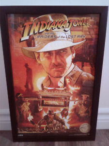 Indiana Jones and the Raiders of the Lost Ark Poster with Frame!