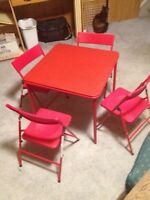 Children's Folding Chairs and Table