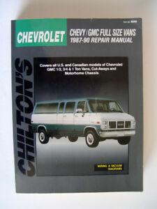 Chilton's Chevrolet , Chevy/GMC Full Size Vans, 1987 – 90 Repair