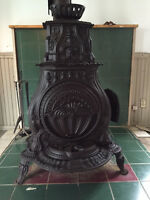 Antique parlor woodstove from 1853