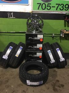 """Jeep Wranglers 5 x 18"""" Fuel Hostage Alloy Rims & 5 Tire Packages"""