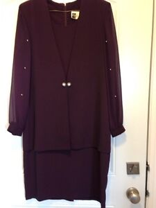 Burgundy special occasion dress size 10