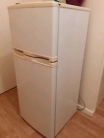 Fridge and freezer and two side tables