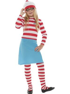 Girls Wheres Wally Wenda Costume Fancy Dress Small 4-6 Book Day Character - Female Fairytale Characters