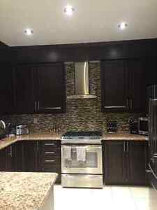 Full brown kitchen with all cabinetry, granite and more.