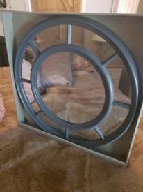 Grey circular window mirror (new in box)