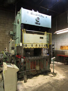 Stamping presses from 10 to 180 tons coming up for auction