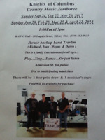Country music Jamboree & dance (All public are welcome)