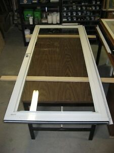 White Clear Vue storm door