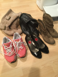 5 pairs boots/shoes