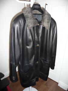 Manteau en cuire d'agneau