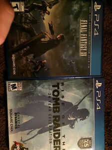 Final Fantasy XV and Rise Of The Tomb Raider 50 Bucks Each. OBO