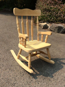 Small children's wooden rocking chair