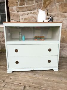 Beautiful Refinished Vintage Display Cabinet