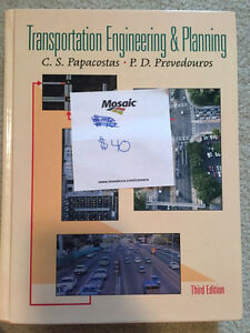 Transportation Engineering Textbook Regina Regina Area image 1