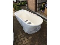 White Oval Bath Panel (Free Standing Look)