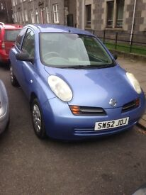 Nissan Micra for sale, very low mileage!