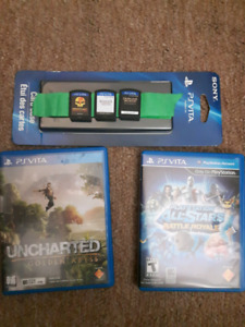 PS VITA memory cards and accessories.