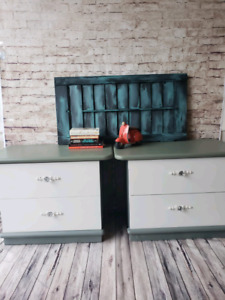Refinished Wooden Night stands