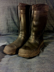 Insulated winter rubber boots