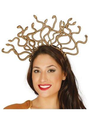 Mythisch Medusa Griechische Göttin Kostüm Gold Schlange Kopfschmuck - Göttin Kostüm Schmuck