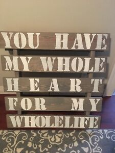 Wall Decor for the happy couple