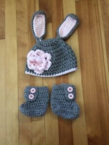 Elephant hat with matching booties