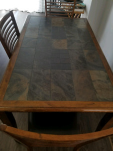 Dinning or kitchen slate table