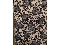 Beautiful wood block print fabric. 15-20 metres