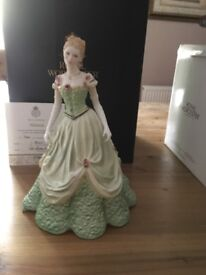 ROYAL WORCESTER figure Melanie Southern Belle New in box