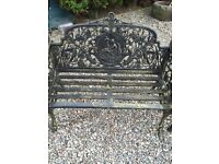 Pair of all metal garden seats for sale