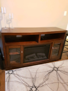 TV Cabinet with electric fire place heater