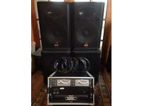Wharfedale Pro 1.4Kw PA System - KAM / Numark Amps & 31 Band Graphic