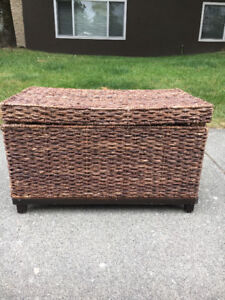 Wicker and wooden truck - great for storage