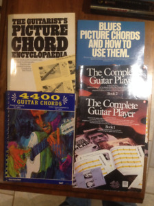 Music books, Chord books, Guitar books
