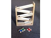 Race car track wooden toy