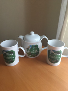 Anne of Green Gables Teapot and Cups from PEI
