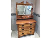 Handmade vintage shabby chic chest of draws with mirror