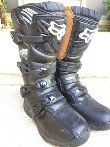 FOX COMP 3 SIZE 6 YOUTH MOTOCROSS BOOT LIKE NEW.