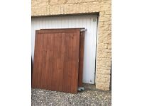 Solid wooden gates