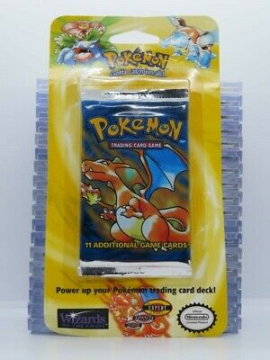 1999 Pokemon Base Set Sealed 11-Card Booster Blister Pack Charizard (B) A45