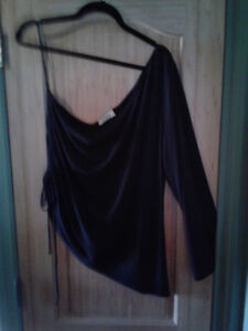 Size 1X Brand MXM Black BARE SHOULDER Dress BLOUSE*AVAILABLE