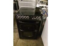 Black creda cooker 600 mm halogen top