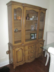 glass wall unit excellent condition great for storage