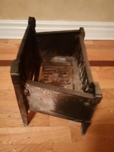 Cast Iron Fireplace Grate Coal Box Basket with Wood Log Insert