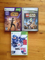 Xbox 360 games - Lego Star Wars, Star Wars Kinect & NHL 12